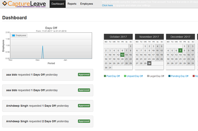 Leave Management Software | Employee Vacation Tracking System ...